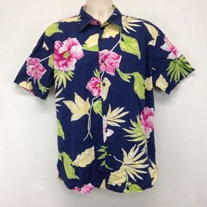 Tommy Hilfiger Mens Hawaiian Shirt Floral